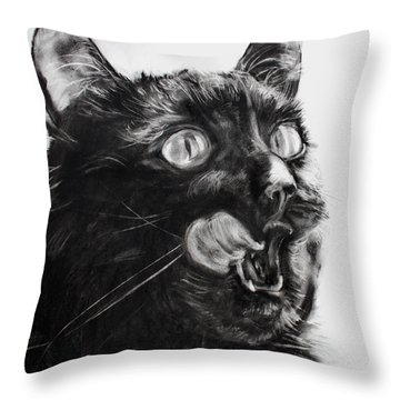 Wanting Throw Pillow by Valerie  Bruzzi