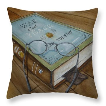 War And Peace Novel Throw Pillow by Kelly Mills