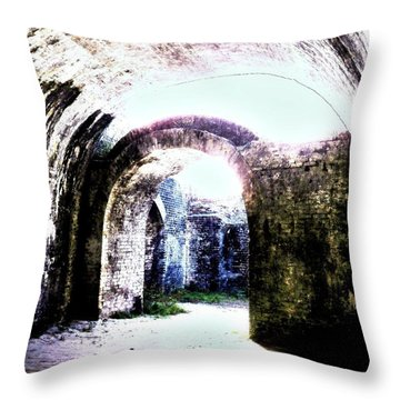 War At Fort Pickens Throw Pillow