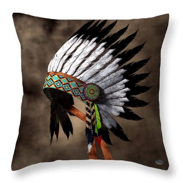 War Bonnet Throw Pillow