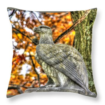 War Eagles - 28th Massachusetts Volunteer Infantry Rose Woods The Wheatfield Fall-a Gettysburg Throw Pillow by Michael Mazaika