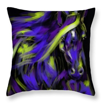 Throw Pillow featuring the painting War Horse by Go Van Kampen
