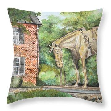 War Horse Memorial Throw Pillow