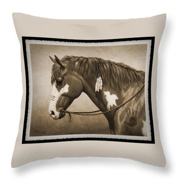 War Horse Old Photo Fx Throw Pillow