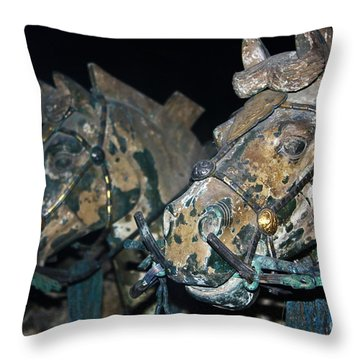 War Horses Throw Pillow