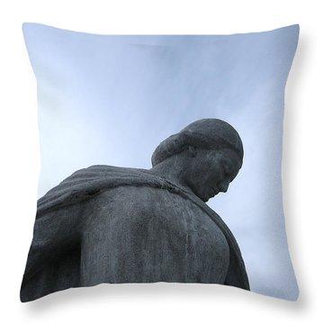 War Memorial  Throw Pillow by Cheryl Hoyle
