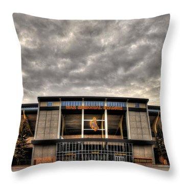 War Memorial Stadium Throw Pillow