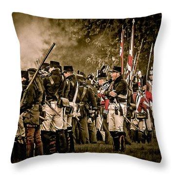 War Of 1812 Throw Pillow by Bianca Nadeau