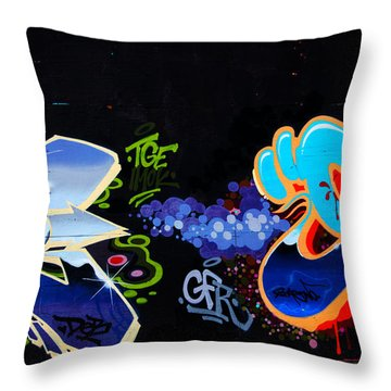 War Of The Wall Throw Pillow by Karol Livote