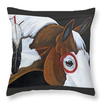 War Paint Throw Pillow