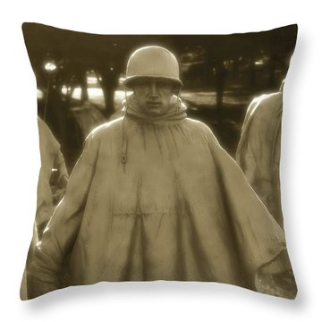 War Soldiers On Patrol Throw Pillow