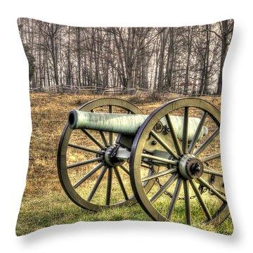 War Thunder - 1st New York Light Artillery-b1 Battery D The Wheatfield Late Winter Gettysburg Throw Pillow