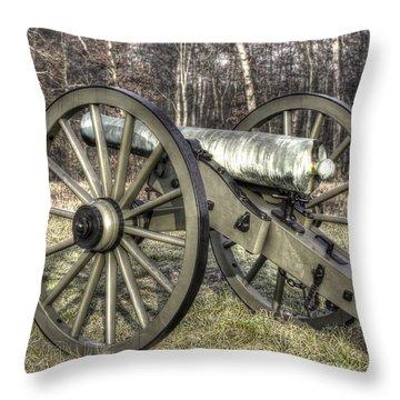War Thunder - 1st New York Light Artillery-c1 Battery D The Wheatfield Late Winter Gettysburg Throw Pillow