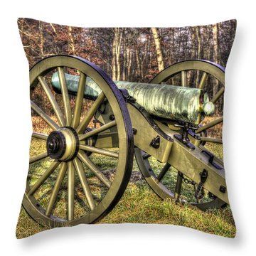 War Thunder - 1st New York Light Artillery-c2 Battery D The Wheatfield Late Winter Gettysburg Throw Pillow