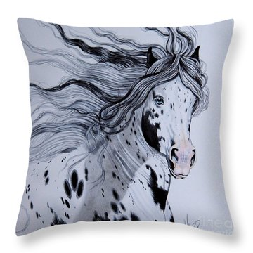 Warbonnet Throw Pillow by Cheryl Poland