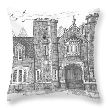 Ward Manor Bard College Throw Pillow