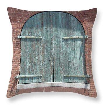 Warehouse Door Throw Pillow
