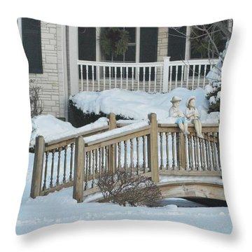Warm Camaraderie Throw Pillow by Sonali Gangane