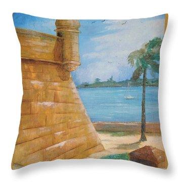Warm Days In St. Augustine Throw Pillow