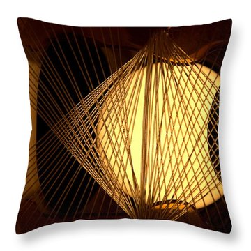 Warm Fusion Throw Pillow by Newel Hunter