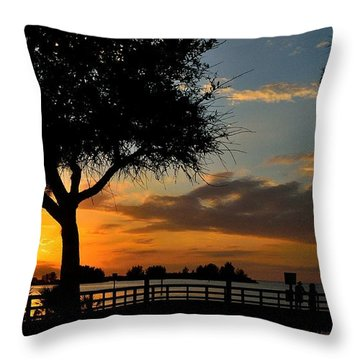 Warm Glowing Sunset Throw Pillow