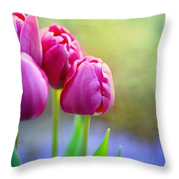 Warm Greetings Throw Pillow