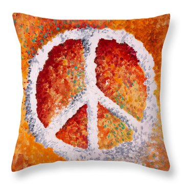 Warm Peace Throw Pillow by Michelle Boudreaux