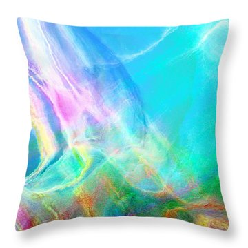 Warm Seas- Abstract Art Throw Pillow
