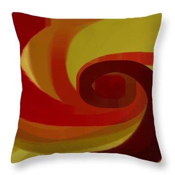 Warm Swirl Throw Pillow by Ben and Raisa Gertsberg