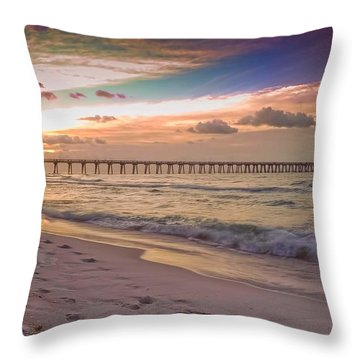 Throw Pillow featuring the photograph Warm Thoughts On A Winter's Day by Renee Hardison