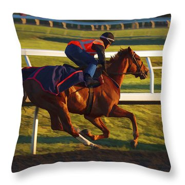Morning Work Out Throw Pillow
