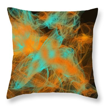 Warm Up Throw Pillow by Lourry Legarde