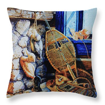 Warm Winter Wishes Throw Pillow by Hanne Lore Koehler