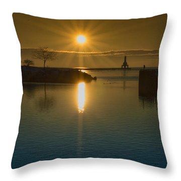 Warming Sun Throw Pillow