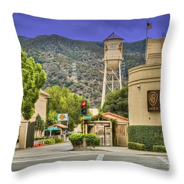 Warner Bros.  Burbank Ca  Throw Pillow by David Zanzinger
