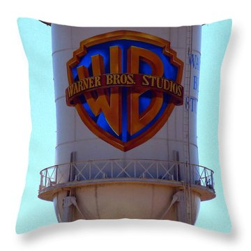Warner Bros Studios Throw Pillow