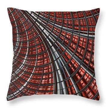 Warp Core Throw Pillow by John Edwards
