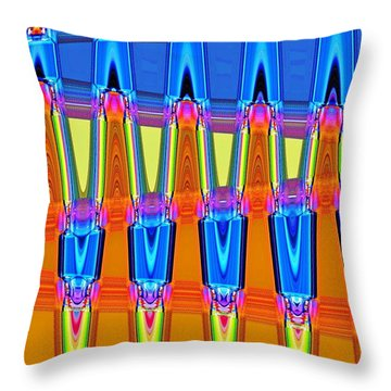 Warp Seven Throw Pillow