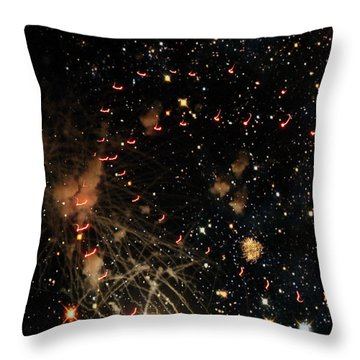 Warp Speed Throw Pillow by Cynthia Lassiter