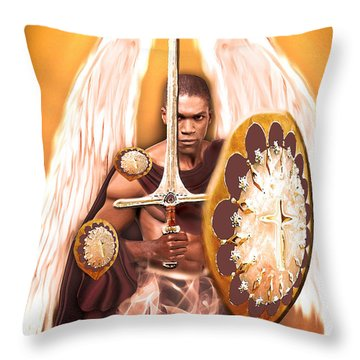 Warrior Angel Throw Pillow