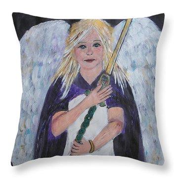 Warrior Angel Throw Pillow