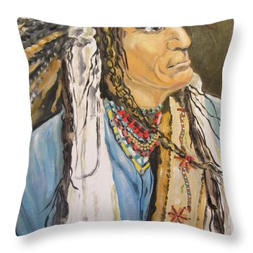 Warrior Cheif Throw Pillow