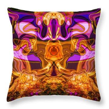 Warrior Chicken Throw Pillow by Omaste Witkowski