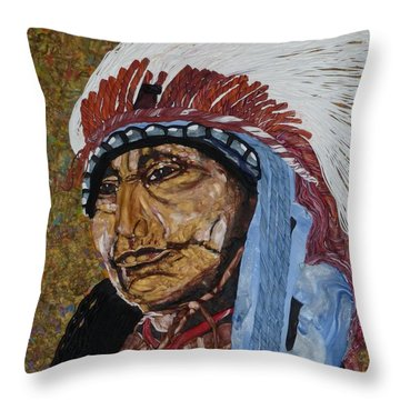 Warrior Chief Throw Pillow