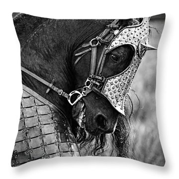 Warrior Horse Throw Pillow