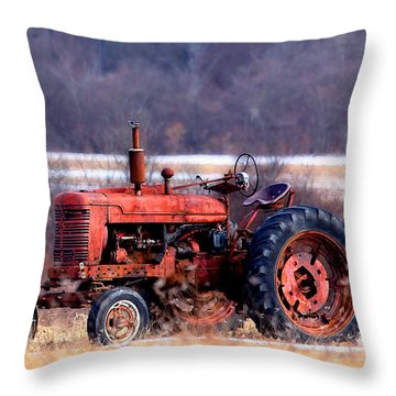 Warrior Of The Fields Throw Pillow