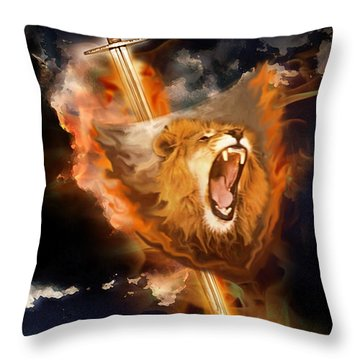 Warrior's Heart Throw Pillow