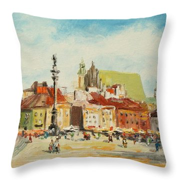 Warsaw- Castle Square Throw Pillow