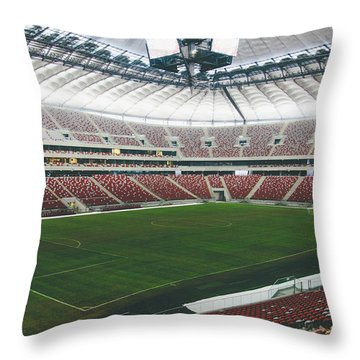 Warsaw Stadion Throw Pillow by Pati Photography