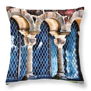 Throw Pillow featuring the photograph Wartburg Castle - Eisenach Germany - 2 by Mark Madere